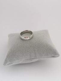 RVS Ring met ruitpatroon
