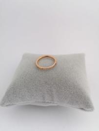 RVS Ring met steentjes roségoud