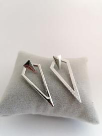 RVS oorbellen stekers driehoek