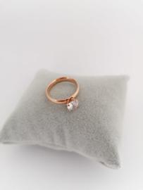 RVS Ring met steen
