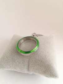 RVS face groen voor medaillon