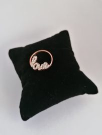Munt love roségoud voor medaillon 35mm