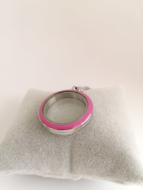 RVS face roze voor medaillon