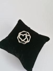Munt hart zilver voor medaillon 35mm