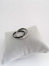 RVS Ring 2 in 1 sterretjes