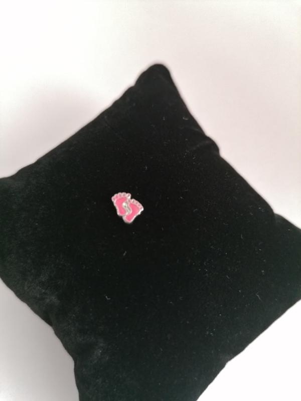 Bedel babyvoetjes roze