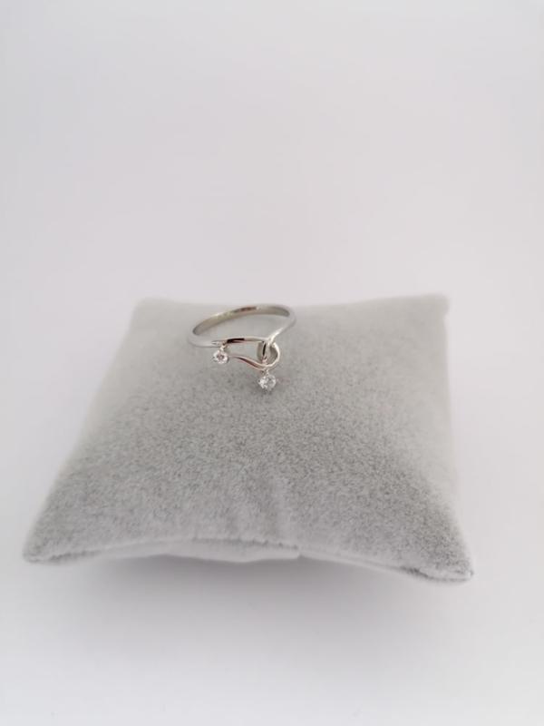 RVS Ring met steentjes