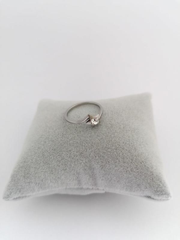RVS Ring met steen ster
