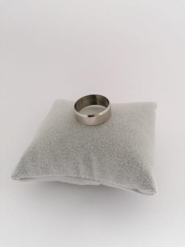 RVS Ring effen glanzend