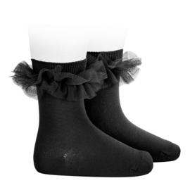 Ruffle Socks Black