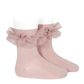 Socks Ruffle Pale Pink