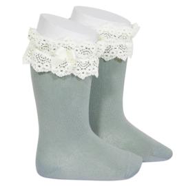 Fantasy Socks Knee High - Dry Green