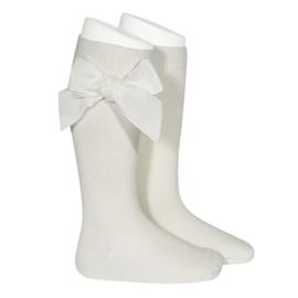 Velvet Socks Knee High - Beige