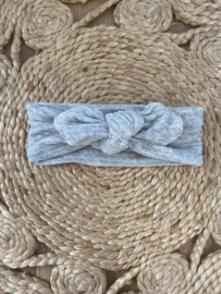 Knotted Headband Light Grey