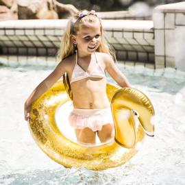 Gouden Zwaan Glitter Zwemband