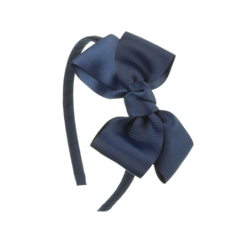 Diadeem Butterfly Bow - Navy