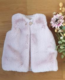 Faux Fur Gilet - Powder Pink