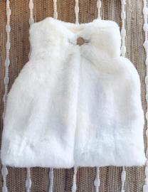 Faux Fur Gilet - Ivory