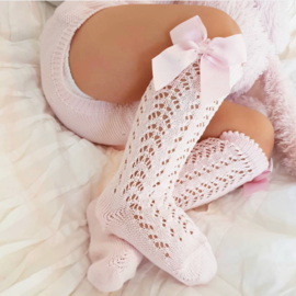 Condor - Open Socks Bow - Pink