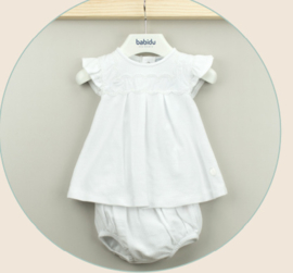 White Baby Dress / Set - Babidu