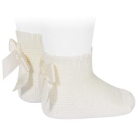 Socks Bow Back - Ivory