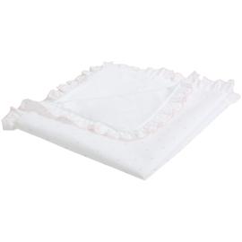 White / Pink Baby Blanket