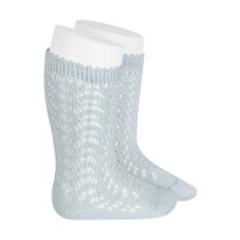 Sock Open w/Bow - Pearl