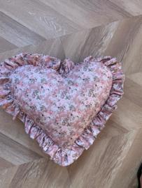 Pillow Heart Flowers