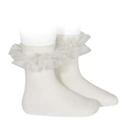 Socks Ruffle Offwhite
