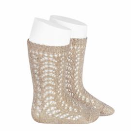 Metallic Socks - Beige