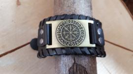 Armband Vegvisir - futhark bronskleurig