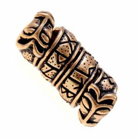 """Baardkraal """"Runen"""" brons"""