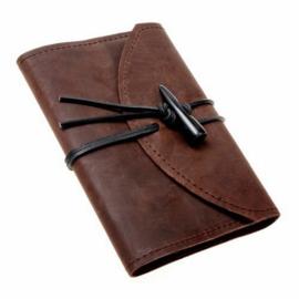Lederen omslag met notitieboekje klein