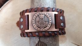 Armband Hamer van Thor - Mjölnir - futhark rood koper