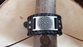 Armband Vegvisir - futhark zilverkleurig