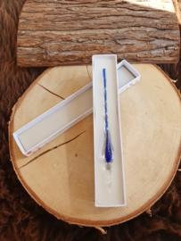 Glazen pen Glow in the Dark - Donker blauw