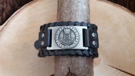 Armband Hamer van Thor - Mjölnir - futhark zilverkleurig