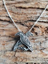 Ketting Odin's raven Huginn & Muninn