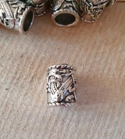 Baardkraal Viking Draak zilverkleurig