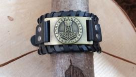Armband Hamer van Thor - Mjölnir - futhark bronskleurig