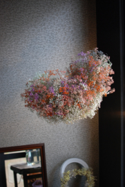Flower cloud L (Orange/ Purple/ Pale pink) - SOLD