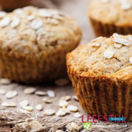 Carrot cake oat muffins