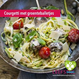 Courgetti met groenteballetjes