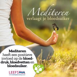 Mediteren verlaagt je bloedsuiker