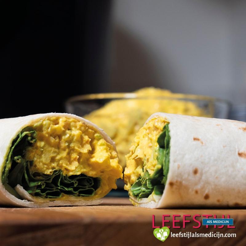 Burrito's met vegan eier-salade
