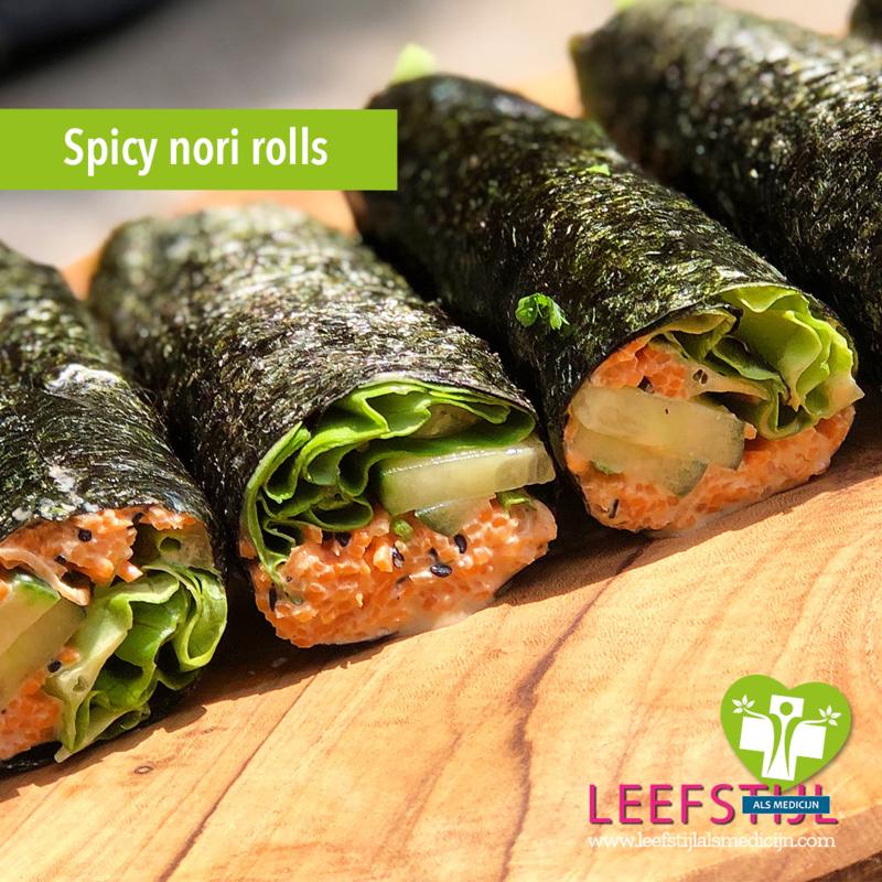 Spicy nori rolls