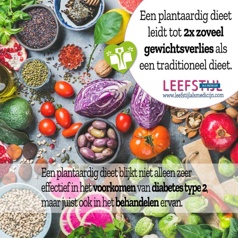 Plantaardig dieet: bewezen meest effectief bij overgewicht en diabetes type 2