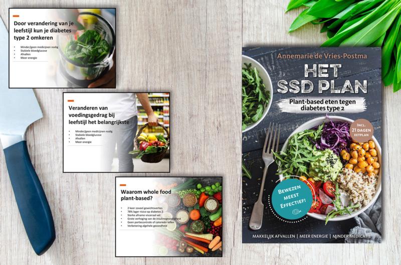 Boek + PowerPoint Het SSD Plan - Plant-based eten tegen diabetes type 2