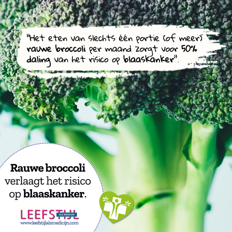Rauwe broccoli verlaagt het risico op blaaskanker
