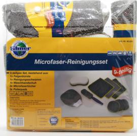 Reinigingsset voor Auto/Vrachtwagen/Camper/Huis - Microvezel - Velgenborstel - Washandschoen - Spons - Polierpads